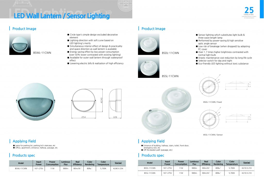 LED Wall Lantern - Sensor Lighting